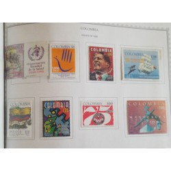 A) 1998, L ANNIVERSARY OF THE WORLD HEALTH ORGANIZATION, AERIAL, IV BOLIVARIAN PHILATELY EXHIBITION BOGOTA