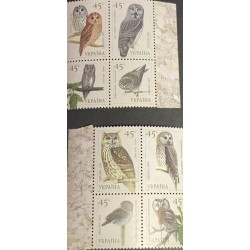 A) 2003, UKRAINE, BIRDS – OWLS, MINISHEET, BUBO BUBO
