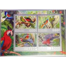 A) 2017, GABON, PARROTS BIRDS, FAUNA, MNH