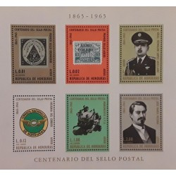 A) 1966, HONDURAS, CENTENNIAL OF THE HONDURAN SEAL