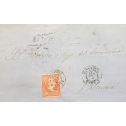 A) 1810 CIRCA, SPAIN, CATALUÑA, SENT TO PALMA, MARITIME MAIL, CANCELED