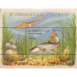A) 2006, UZBEQUISTAN, LOCAL FISH, ASPIOLUCIUS ESOCINUS, MINISHEET