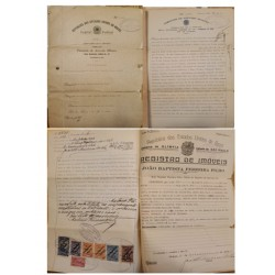 A) 1920 CIRCA, BRAZIL, REVENUE PAPER, JUDICIARY DOCUMENTS
