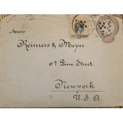 A) 1898, BRAZIL, TO NEW YORK – UNITED STATES, STAMP 2