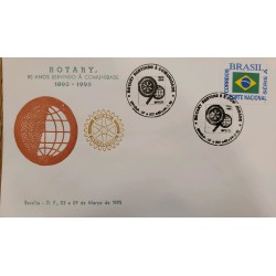 A) 1905, BRAZIL, ROTARY 90 YEARS SERVING THE COMMUNITY, ECT