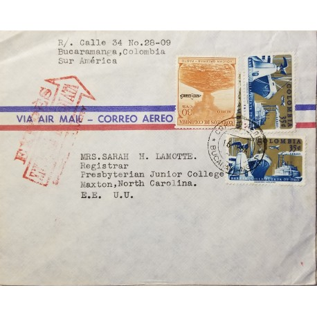 L) 1959 MEXICO, ONU, UNITED NATIONS ECONOMIC AND SOCIAL COUNCIL, 30, YELLOW, FDC