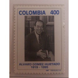 A) 1997, COLOMBIA, II ANNIVERSARY OF THE DEATH OF THE LAWYER AND POLITICIAN ALVARO GOMEZ HURTADO
