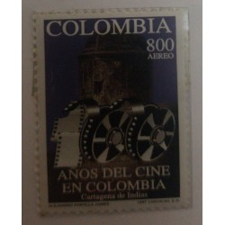 A) 1997, COLOMBIA, CENTENNIAL OF COLOMBIAN CINEMA, AERIAL