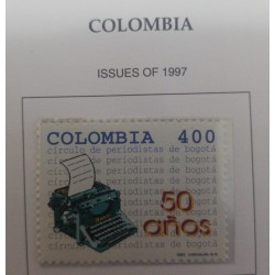 A) 1997, COLOMBIA, L ANNIVERSARY OF THE CIRCLE OF JOURNALISTS OF BOGOTA, ISSUES