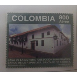 A) 1997, COLOMBIA, I ANNIVERSARY OF THE NUMISMATIC COLLECTION IN THE MINT OF THE BANK OF THE REPUBLIC OF BOGOTÁ, AERIAL