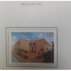A) 1996, COLOMBIA, ARCHITECTURE, THE NATIONAL ARCHIVE OF BOGOTA, AERIAL, MAIN FACADE, THOMAS GREG & SONS