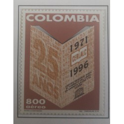 A) 1996, COLOMBIA, XXV ANNIVERSARY OF THE REGIONAL CENTER FOR BOOK DEVELOPMENT IN LATIN AMERICA AND THE CARIBBEAN, AERIAL