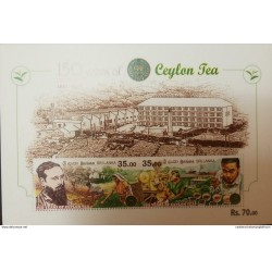 RL) 2017 SRI LANKA, 150 YEARS OF THE CYLON TEA, JAMES TAYLOR, COFFE, ARCHITECTURE, NATURE, MNH