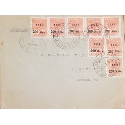 O) 1897 GUATEMALA, IMPERFORATE CENTRAL AMERICA EXPOSITION-NATIONAL ARMS AND PRESIDENT J. M. REYNA BARRIOS SCOTT A21 10 CENTAVOS