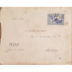O) 1949 GREECE, CENSORSHIP - AIRMAIL. ASPROPOTAMOS RIVER OVERPRINTED 100D-SCOTT A105, ALLEGORY OF FLIGHT SCOTT A123 -1000D