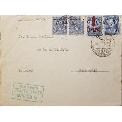 O) 1947 INDIA, NATIONAL FLAG SCOTT A88, RAJ DER KAR AND CO - COMMISSARIAT BLDG, FROM BOMBAY TO PHILADELPHIA, SINGLE RATE, XF