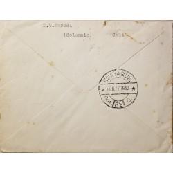 O) 1947 EL SALVADOR, AIRMAIL, MANUEL JOSE ARCE -SCOTT A163.TO UNITED STATES