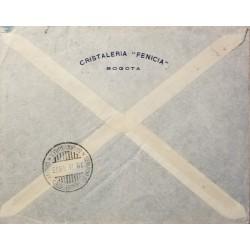 L) 1940 ECUADOR, LOUIS GODIN, CHARLES M DE LA CONDAMINE AND PIERRE BOUGUER, SCOTT A136, 5C DARK GREEN, COAST LANDSCAPE, SCOTT