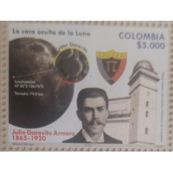A) 2020, COLOMBIA, OBSERVATORIUM SPACE TELESCOPE, JULIO GARAVITO ARMERO, THE HIDDEN FACE OF THE MOON, MNH