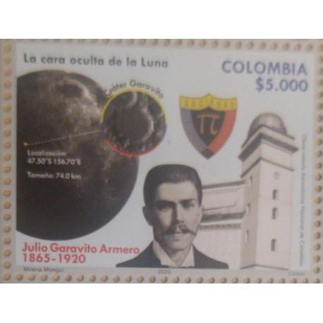 A) 2020, COLOMBIA, OBSERVATORIUM SPACE TELESCOPE, JULIO GARAVITO ARMERO, THE HIDDEN FACE OF THE MOON, MNH