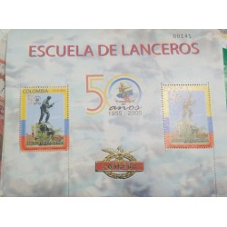 A) 2005, COLOMBIA, L ANNIVERSARY OF THE ELITE CORPS OF THE ARMY OF THE LANCERS, THOMAS GREG & SONS