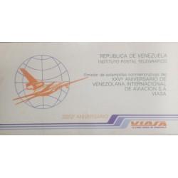 A) 1977, VENEZUELA, INSTITUTE TELEGRAPH POSTCARD, EMISION DE ESTAMPILLAS COMMEMORATIVE