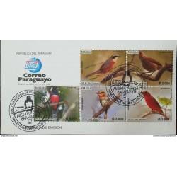 RO) 2018 PARAGUAY,BIRD DIVERSITY -BIRDS OF CHACO, TETA REKUAI, FDC XF