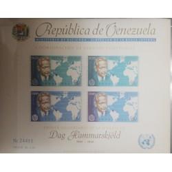 A) 1963, VENEZUELA, THE FIRST ANNIVERSARY OF THE DEATH OF DAG HAMMARSKJOLD