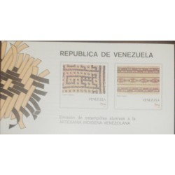 A) 1987, VENEZUELA, FABRICS, ISSUANCE OF STAMPS ALLUSIVE TO VENEZUELAN INDIGENOUS CRAFTSMANSHIP, FDB