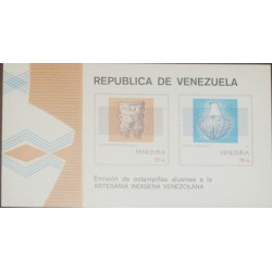 A) 1987, VENEZUELA, PREHISPANIC MUSICAL INSTRUMENT AND CERAMICS
