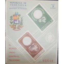 A) 1962, VENEZUELA, THE WORLD UNITED AGAINST MALARIA, MNH, SHEET