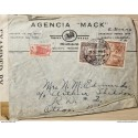L) 1942 COLOMBIA, COFFEE, 5C, PALACE OF COMMUNICATIONS, RED, COLONIAL BOGOTA, BLACK, 60C, SURCHARGE FOR CONSTRUCTION