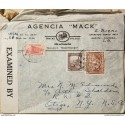 L) 1939 COLOMBIA, COFFEE, BROWN, 5C, PALACE OF COMMUNICATIONS, RED, COLONIAL BOGOTA, ARCHITECTURE, 60C