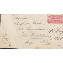 A) 1928, SPANISH ANTILLES, AIRMAIL, LINDBERGH COMMEMORATION, NOT ISSUED STAMP OVERPRINTED, SHIPPED TO NEW YORK