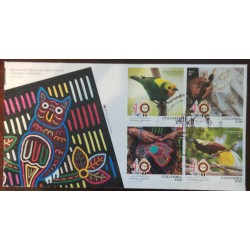 A) 2020 COLOMBIA INDONESIA, ARTISAN FABRICS AND FABRICS, JOINT ISSUE, 40 YEARS OF RELATIONSHIPS, FDC
