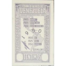 J) 1950 VENEZUELA, MAP, AMERICAN BANK NOTE, PROOF