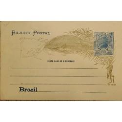A) 1898, BRAZIL, POSTAL STATIONARY, UNITED STATES OF BRAZIL, BLUE