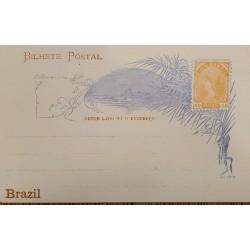A) 1898, BRAZIL, POSTAL STATIONARY, UNITED STATES OF BRAZIL, LIBERTY, ORANGE