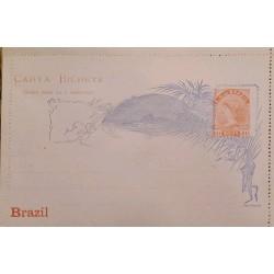 A) 1898, BRAZIL, POSTAL STATIONARY, UNITED STATES OF BRAZIL, LIBERTY, RED