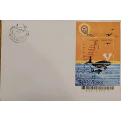 A) 2002, BRAZIL, FRANK WHALE, MARINE FAUNA PROTECTION AREA, FIRST DAY COVER