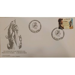A) 1996, BRAZIL, 150 YEARS OF THE BIRTH OF PRINCESS ISABEL- THE REDEEMER, FDC, ECT