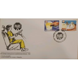 A) 1995, BRAZIL, REDUCE ACCIDENTS AT THE TICKETS – STOP, FIRST DAY COVER, ECT