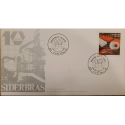 A) 1983, BRAZIL, SIDERBRAS, X ANNIVERSARY OF THE FOUNDING OF THE NATIONAL STEEL COMPANY, FIRST DAY COVER, ECT