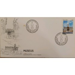 A) 1985, BRAZIL, MUSEUS, FIRST DAY COVER, MUSEUM OF INCONFIDENCE, BLACK GOLD, HISTORY AND DIPLOMACY, ECT
