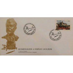 A) 1985, BRAZIL, FDC, HOMAGE TO THE WRITER AND PAINTER EMILIO ROUÈDE, THE CATHEDRAL OF OUR LADY. ECT
