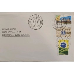 A) 1981, BRAZIL, ADDRESSED TO JOINVILLE-SANTA CATARINA, STAMPS OF NATIONALIZATION OF THE MADEIRA TRAIN-MEMORY