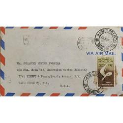 A) 1954, BRAZIL, DIRECTED TO WASHINGTON – U.S.A, AERIAL, IV CENTENARY OF SAO PAULO