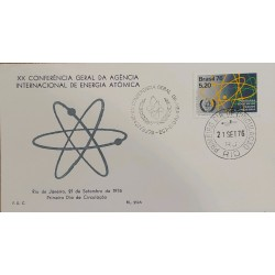 A) 1976, BRASZIL, ATOM, XX GENERAL CONFERENCE OF THE INTERNATIONAL ATOMIC ENERGY AGENCY, FDC, RIO OF JANEIRO, ECT