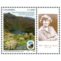 RO) 2013 COLOMBIA, BEAR SPECTACLED, FRAILEJON-PLANT, MOUNTAINS, LAKES, GLORIA VALENCIA DE CASTAñO