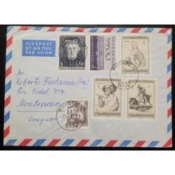 A) 1971, AUSTRIA, AERIAL, SENT TO MONTEVIDEO – URUGUAY,